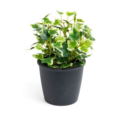 Planta artificial, c/vaso plástico, Ø17x22 cm