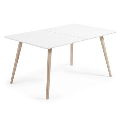 Mesa extensível em madeira, 160(260)x100 cm