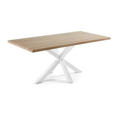 Mesa de jantar em madeira/metal, 200x100 cm