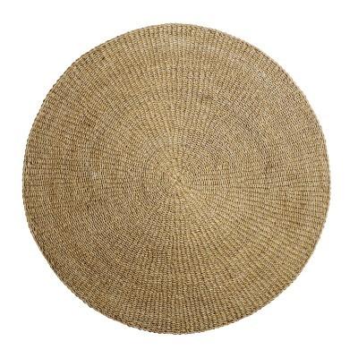 Tapete redondo, ervas marinhas, Ø200 cm
