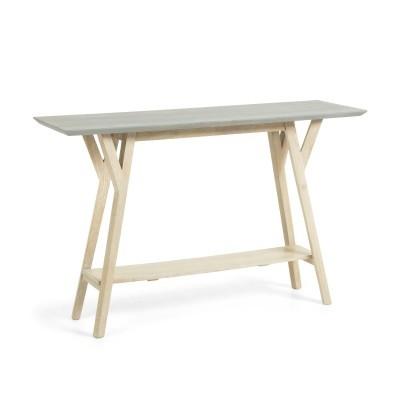 Consola em madeira de mangueira natural, 80x125 cm