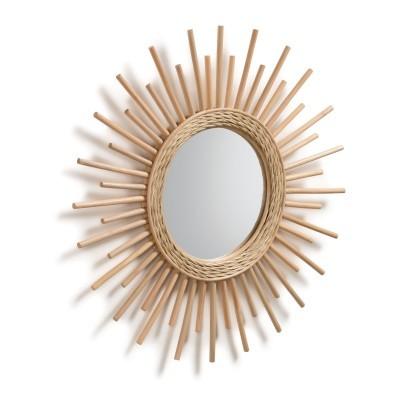 Espelho Minelli, vime natural, Ø60 cm