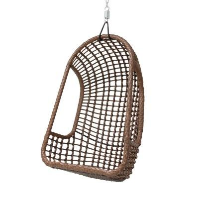 Cadeira suspensa, rattan sintético, 110x77 cm