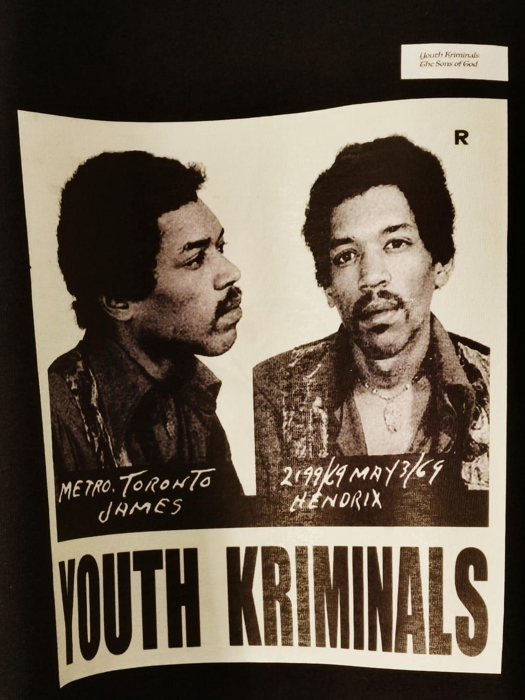 T-Shirt Youth Kriminals (JIMI HENDRIX)