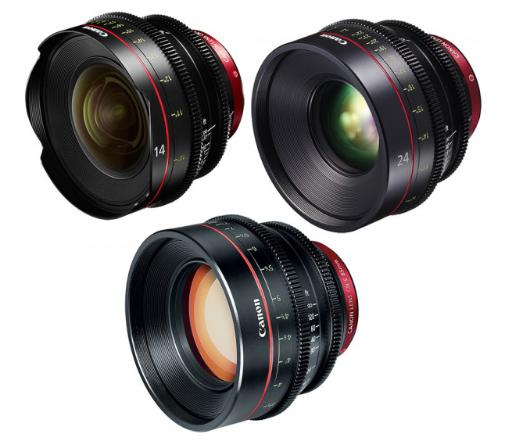 Canon EF Primes Bundle 14/24/85 (M)