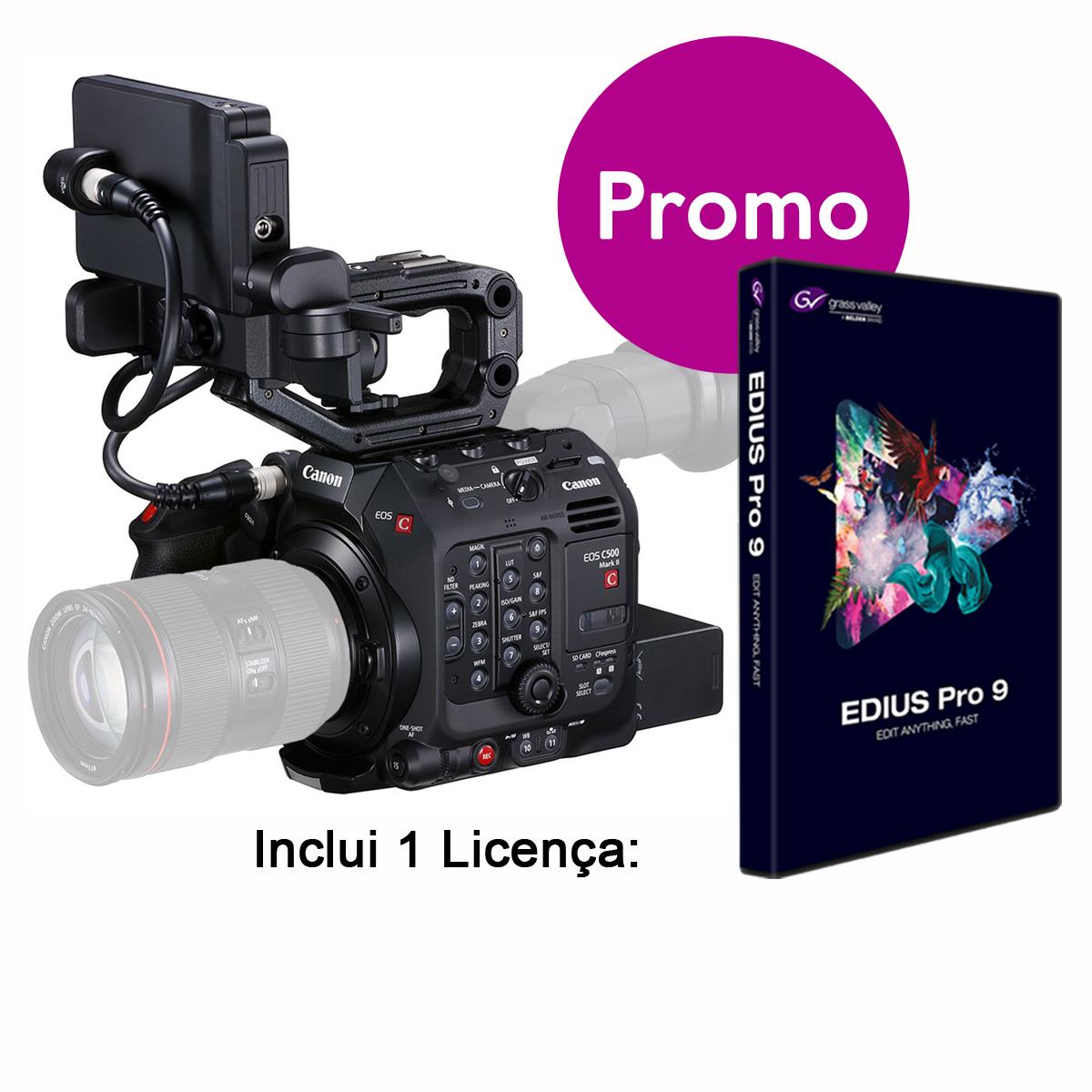 Canon EOS C500 Mark II inclui EDIUS PRO9