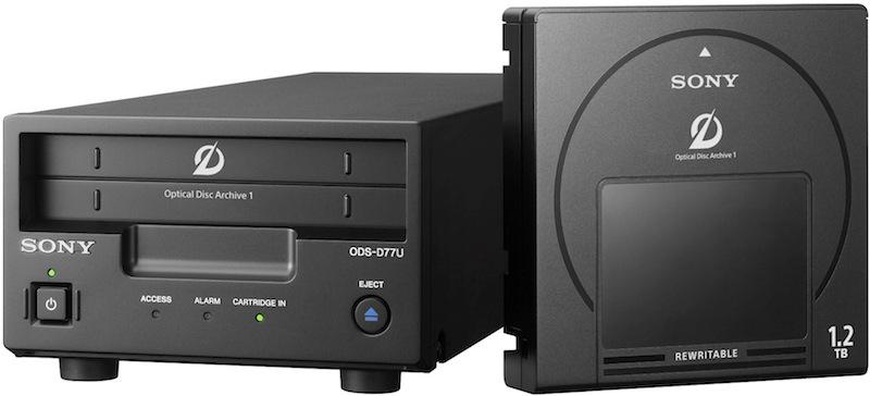 Sony ODA Drive com 6TB de Armazenamento (Kit com 5 Cartuchos 1.2 TB Regraváveis)
