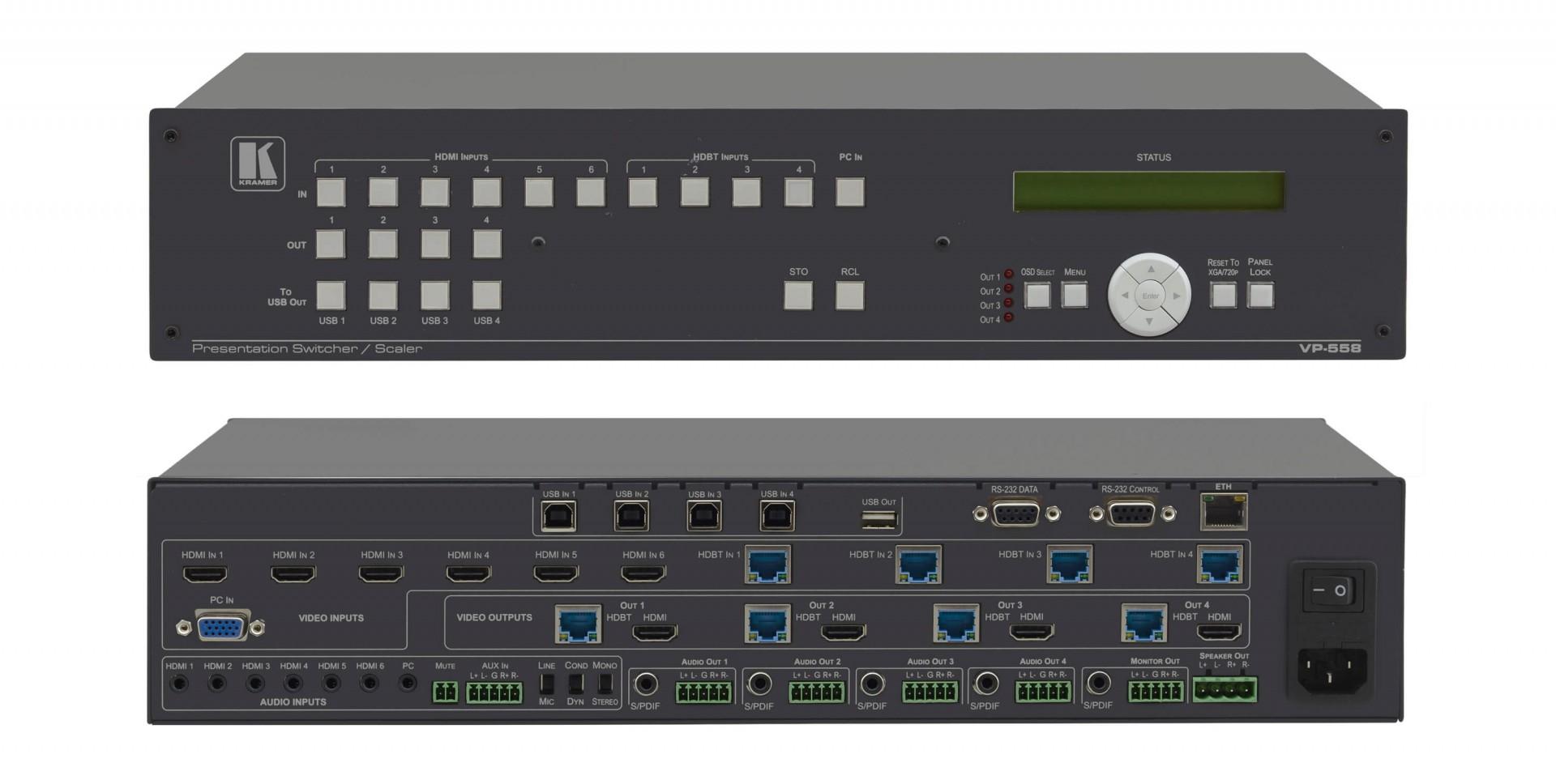 Kramer VP-558 11x4:2 Presentation Boardroom Router / Scaler System