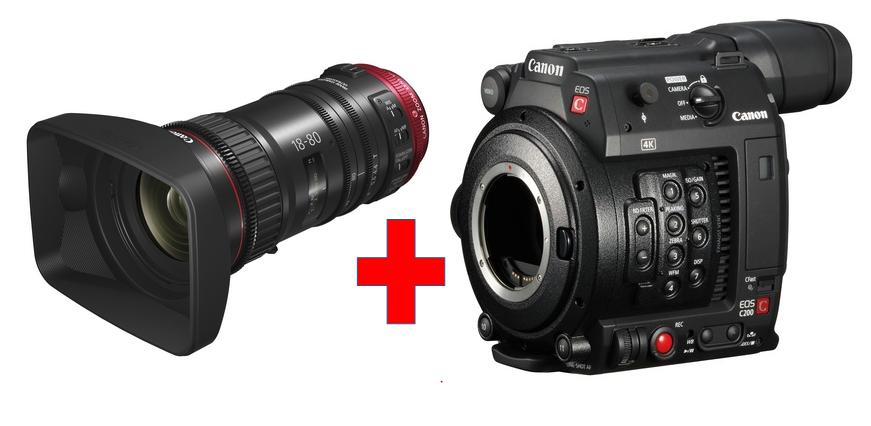 Canon EOS C200 + CN-E18-80