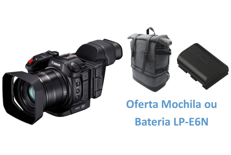 Canon XC15 + Oferta de Mochila BP-10 ou Bateria LP-E6N