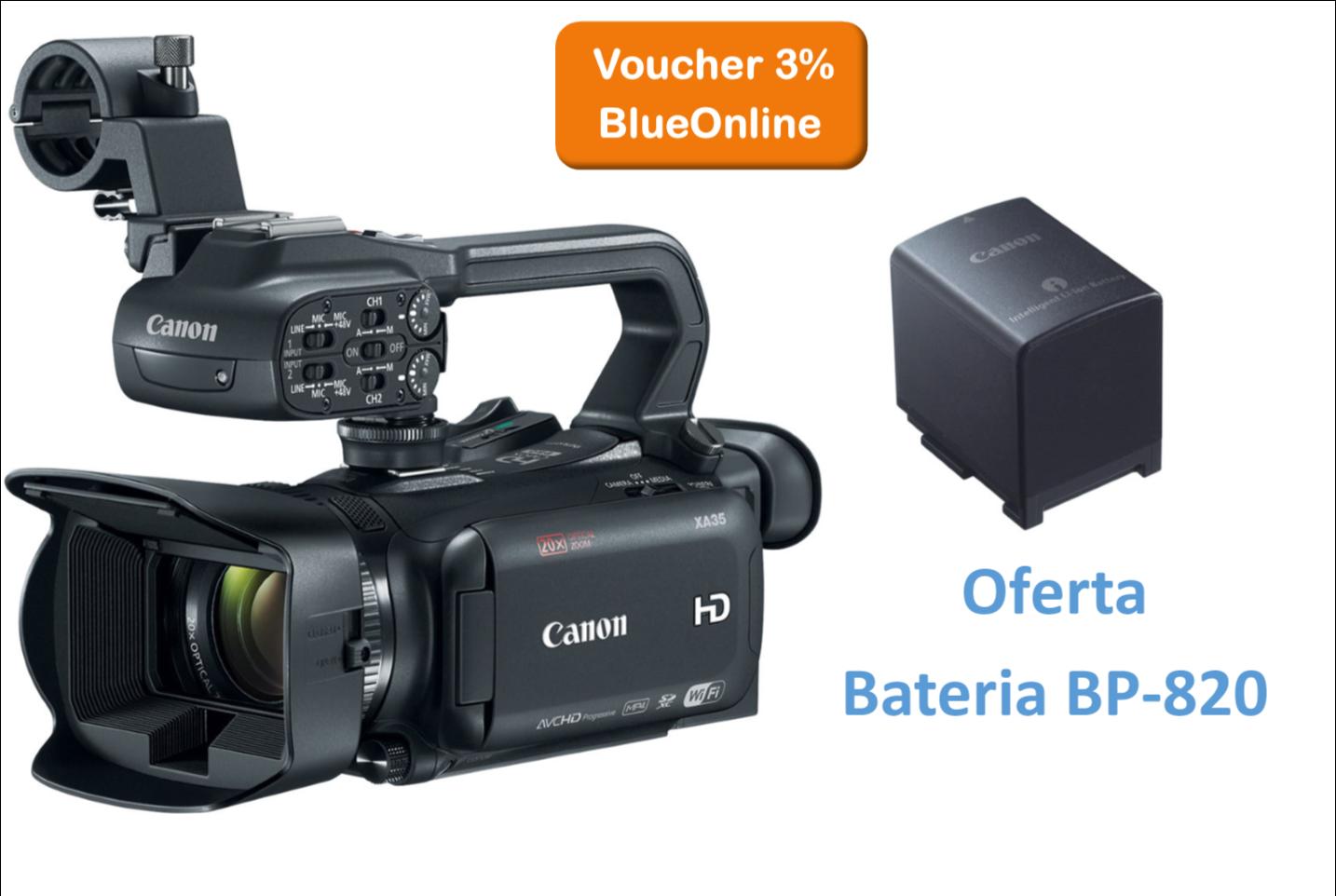 Canon XA35 + Oferta de Bateria BP-820