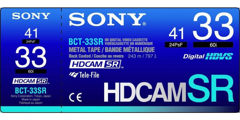 Sony HDCAM SR SMALL 33 MN - Cx.10 unidades