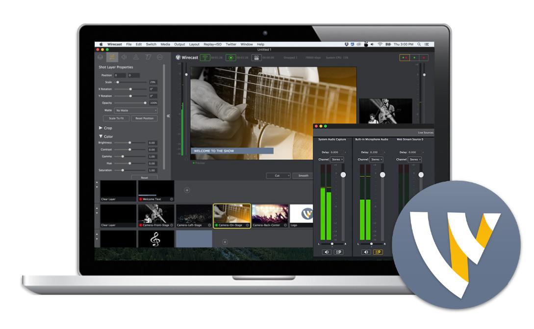 Telestream Wirecast Pro 9 (upgrade Pro 4 a Pro 7)
