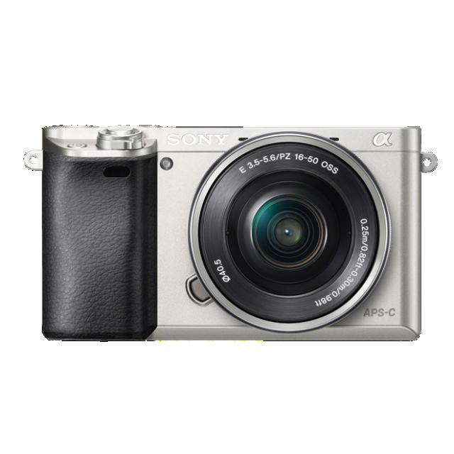 Sony A6000 + lente de zoom motorizado 16-50 mm (Cinza)