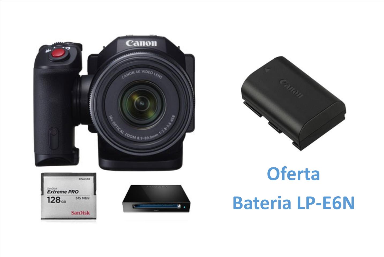 Canon XC10 Kit Cartão 128GB e Leitor + Oferta Bateria LP-E6N