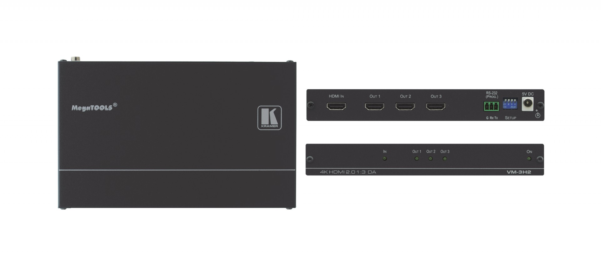 Kramer 1:3 4K HDR HDMI distribution amplifier - VM-3H2