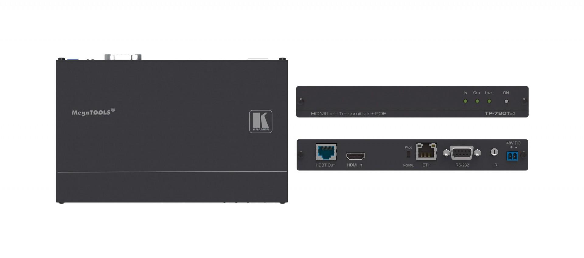 Kramer TP-780Txr - 4K60 4:2:0 HDMI HDCP 2.2 PoE Transmitter