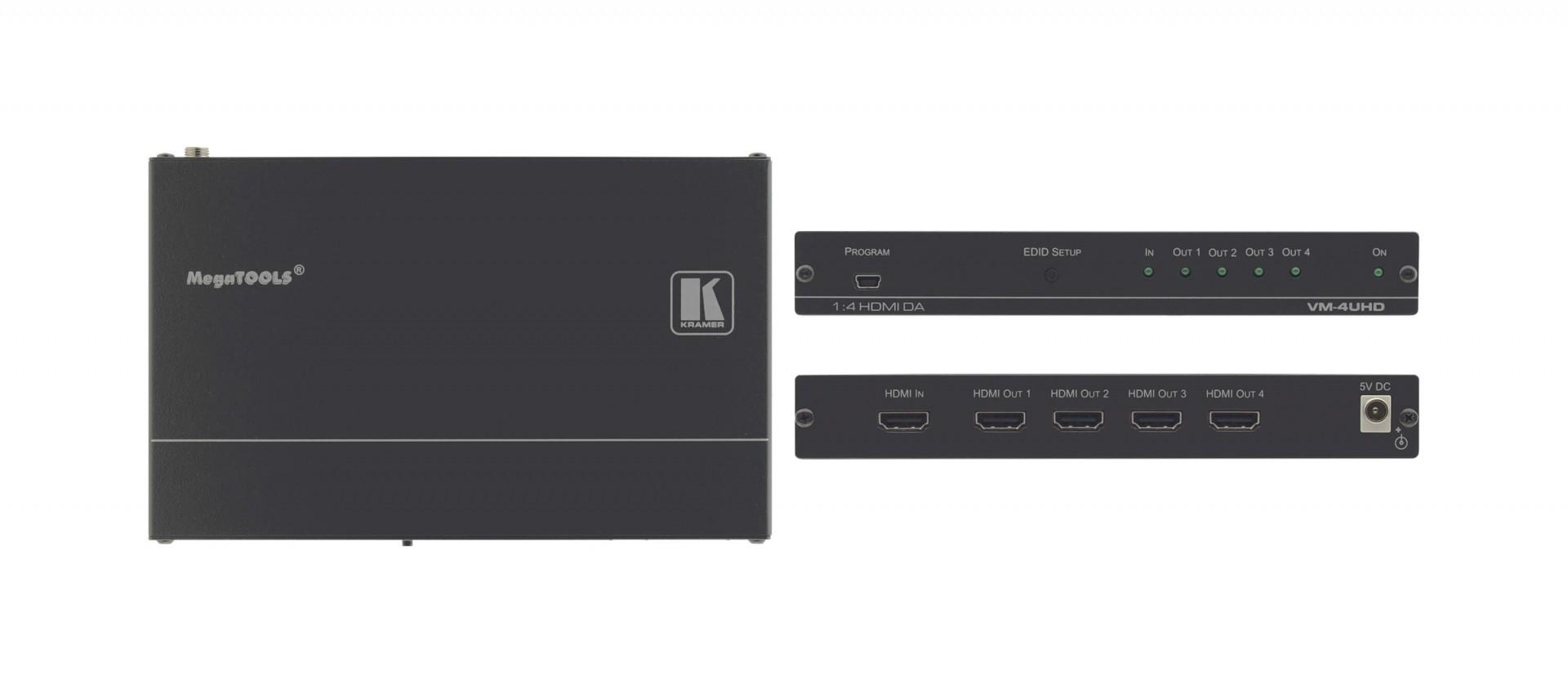 Kramer VM-4UHD 1:4 4K60 4:2:0 HDMI distribution amplifier