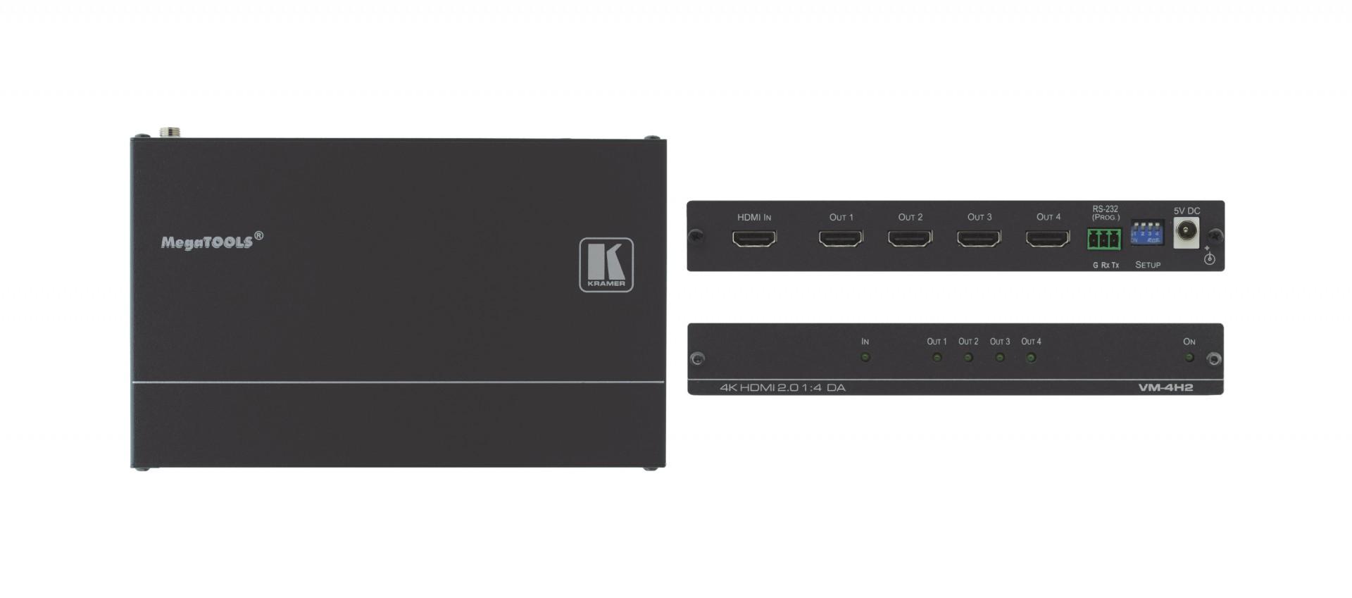 Kramer VM-4H2 1:4 4K HDR HDMI distribution amplifier