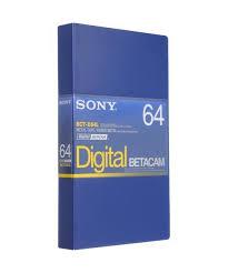 Sony Cassete BCT-D64L para Betacam Digital