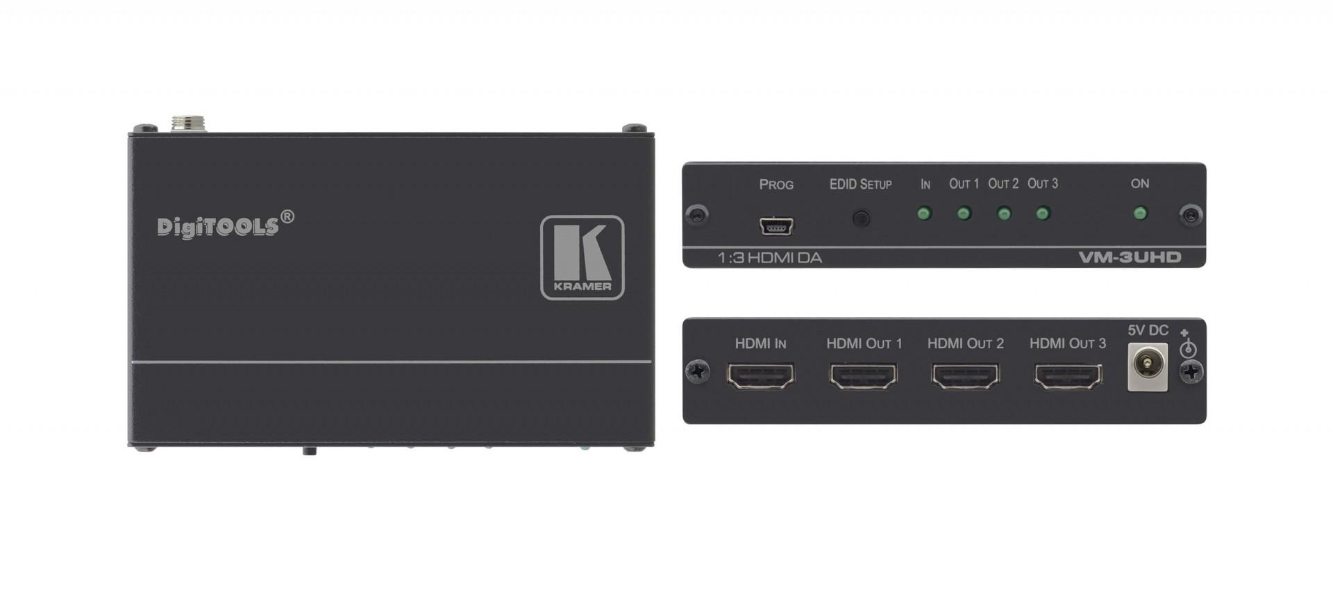 Kramer - VM-3UHD 1:3 4K60 4:2:0 HDMI distribution amplifier