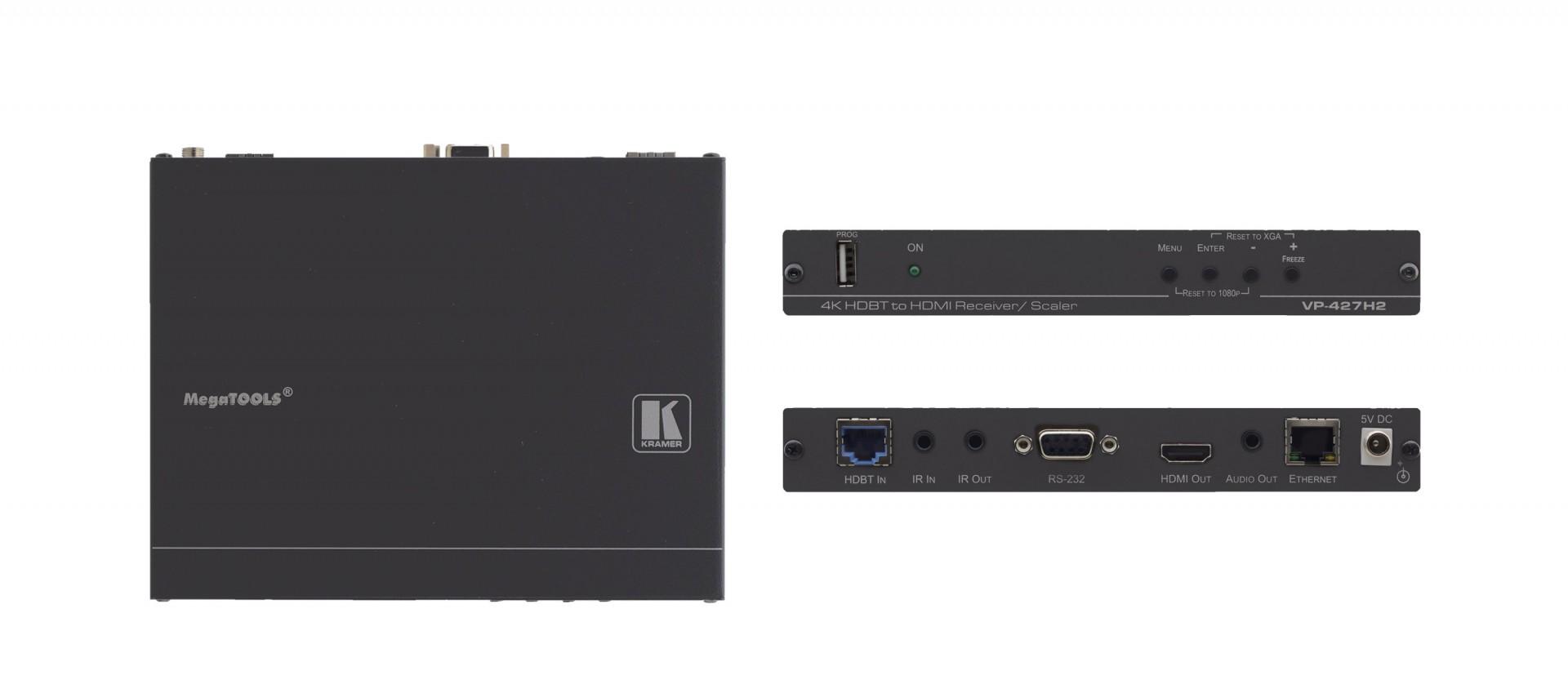 Kramer VP-427H2 4K60 4:4:4 HDMI HDCP 2.2 Receiver/Scaler over Extended–Reach HDBaseT