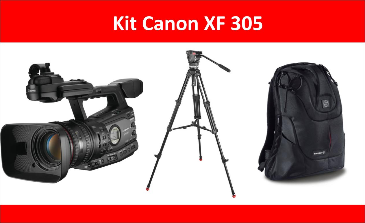 Promoção Canon X305 + Tripé Sachtler ACE M + Mochila Sachtler