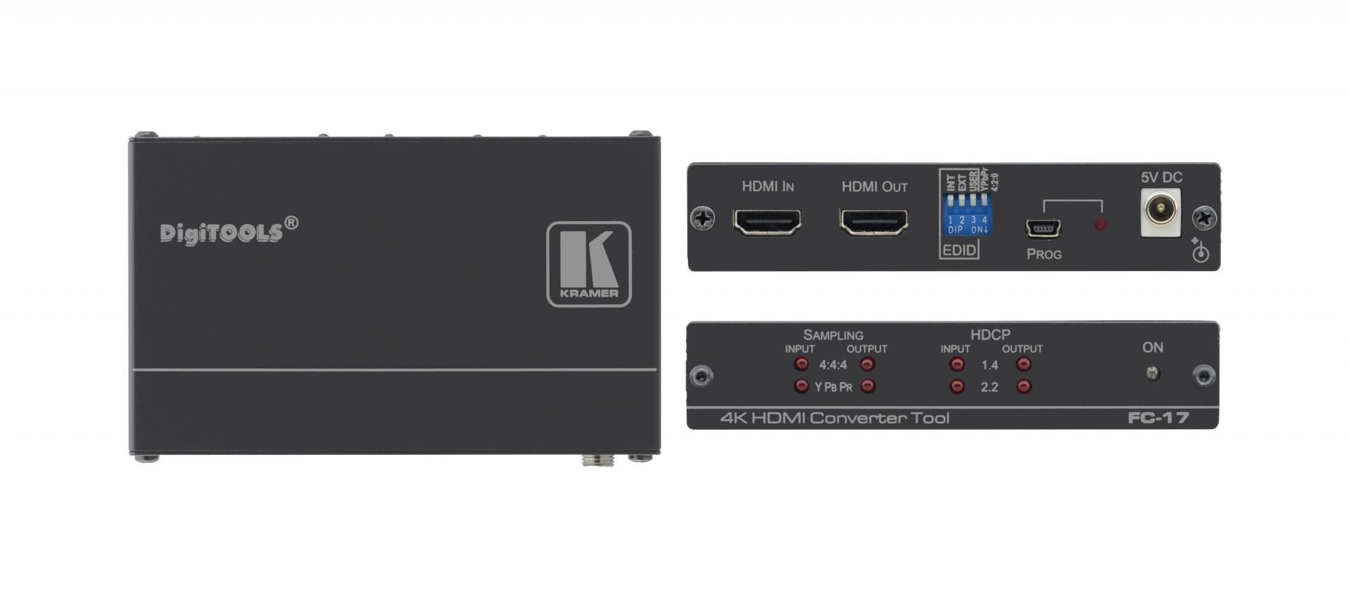 Kramer FC-17 HDMI 4K60 4:4:4 / 4:2:0 Converter with HDCP 1.4 & 2.2