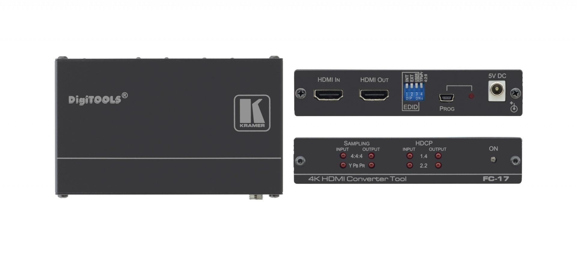 Kramer FC-17 HDMI 4K60 4:4:4 / 4:2:0 Converter with HDCP 1.4 & 2.2