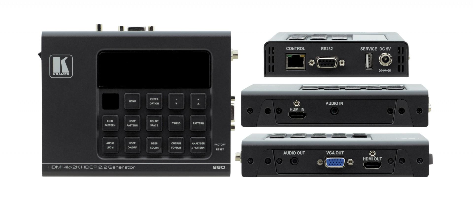 Kramer 860 18G 4K HDR Signal Generator & Analyzer