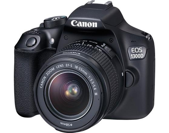 Canon EOS 1300D 18-55 VUK - Inclui Saco e Cartão