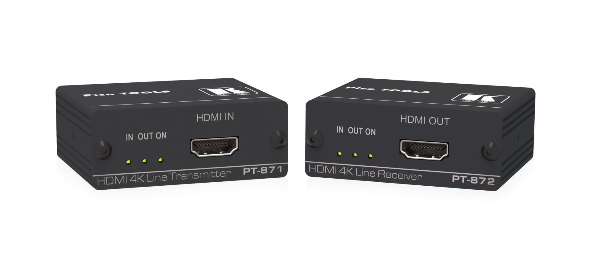 Kramer PT-871/2-KIT - 4K HDR HDMI Compact PoC Extender over Long–Reach DGKat 2.0