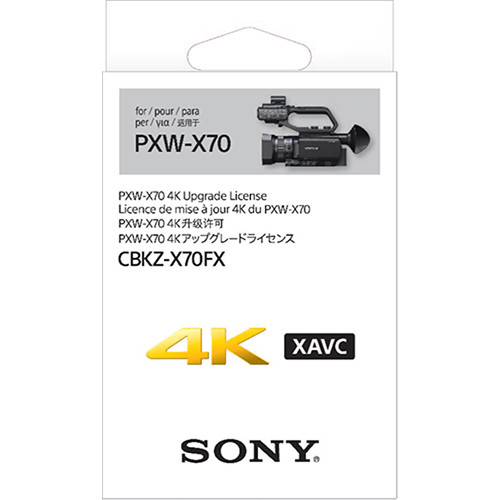 Sony 4K Upgrade para PXW-X70