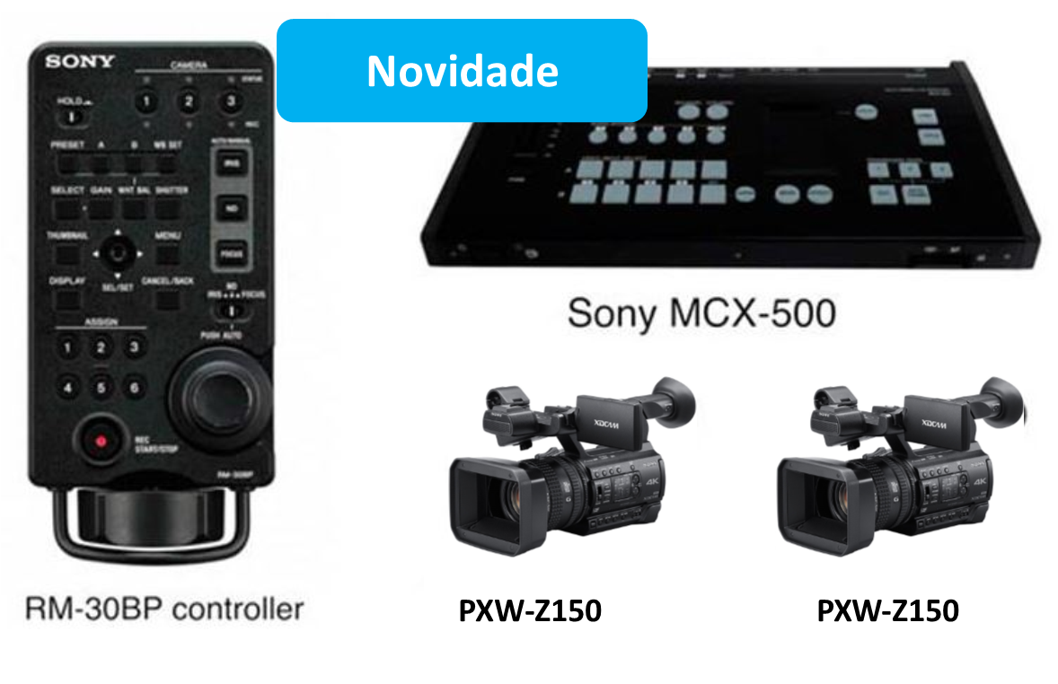 Sony Bundle Mesa de Mistura MCX-500 + Comando RM-30BP + 2 PXW-Z150