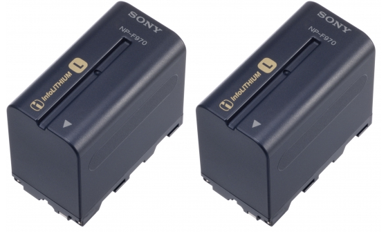 Sony Battery Pack 2PAC 2 x NP F970