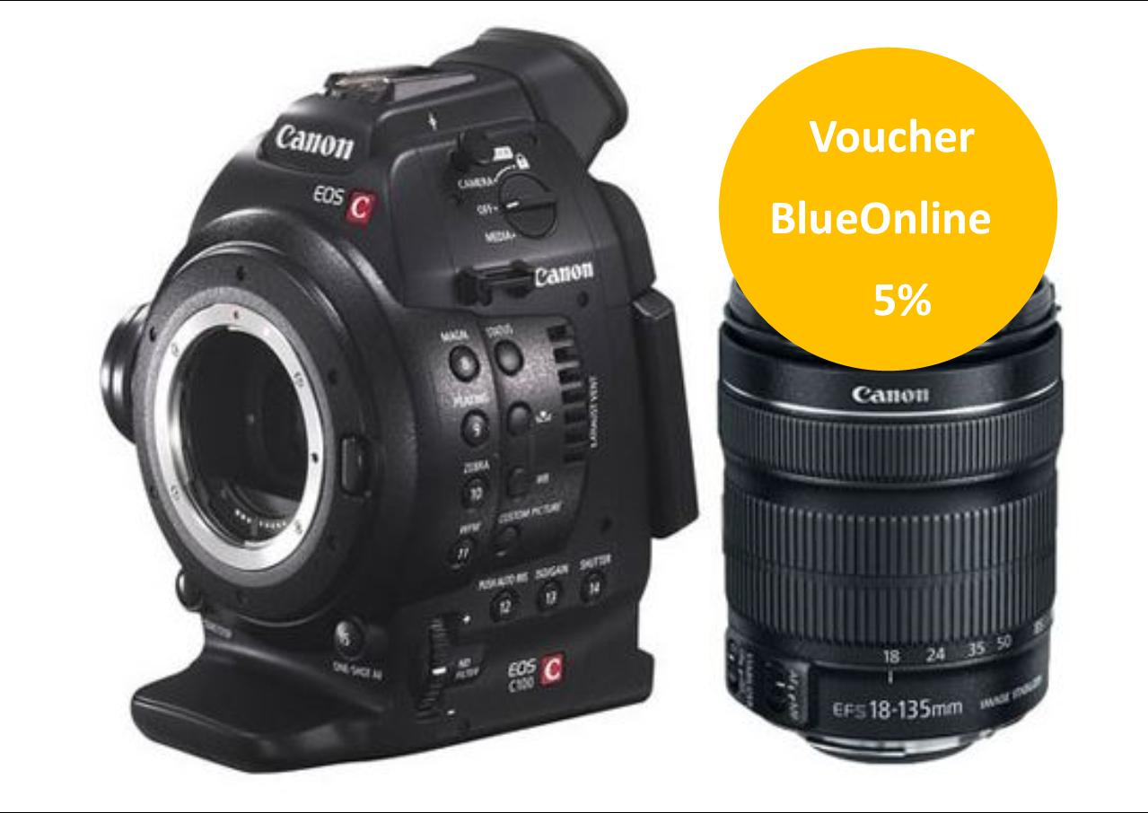 Canon Kit EOS C100 DAF com Lente EF 18-135
