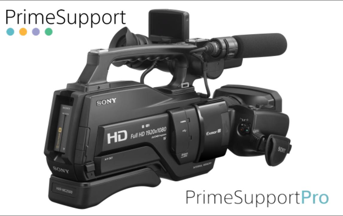 Sony HXR-MC2500E + 1 Ano de Garantia Adicional (Prime Support PRO)