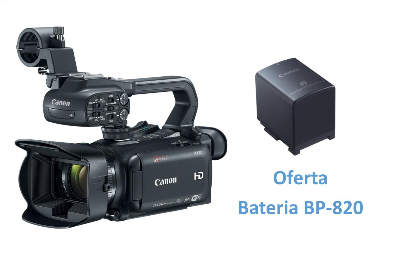 Canon XA30 + Oferta de Bateria BP-820