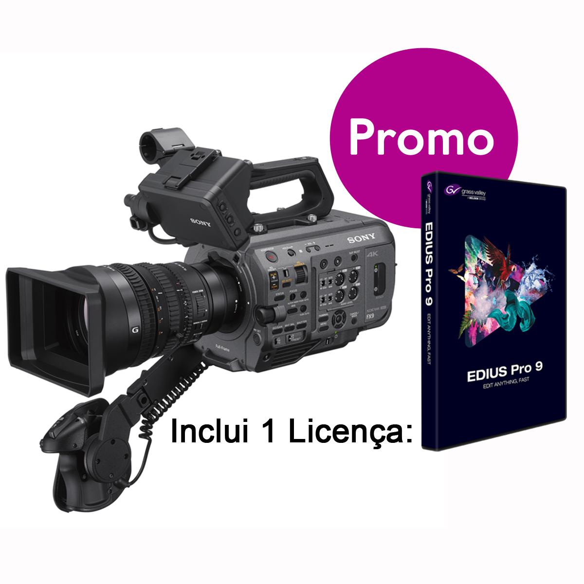 Sony PXW-FX9K Inclui Edius PRO9