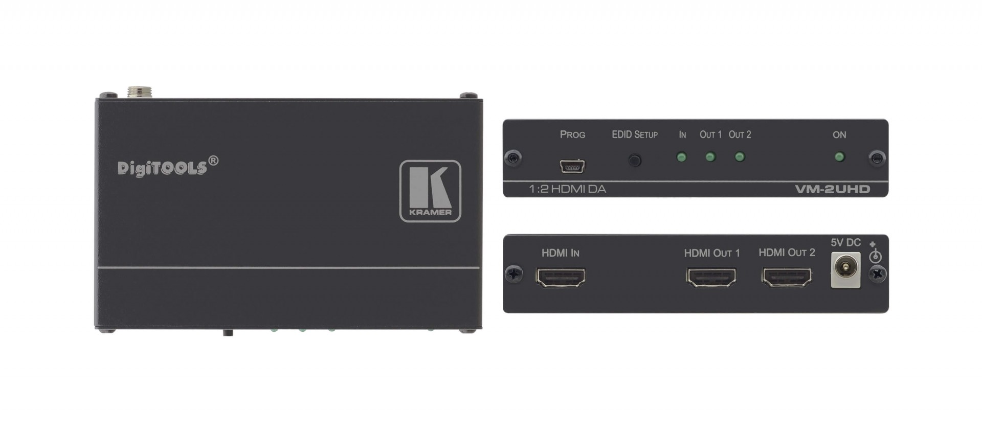 Kramer 1:2 4K60 4:2:0 HDMI distribution amplifier -VM-2UHD