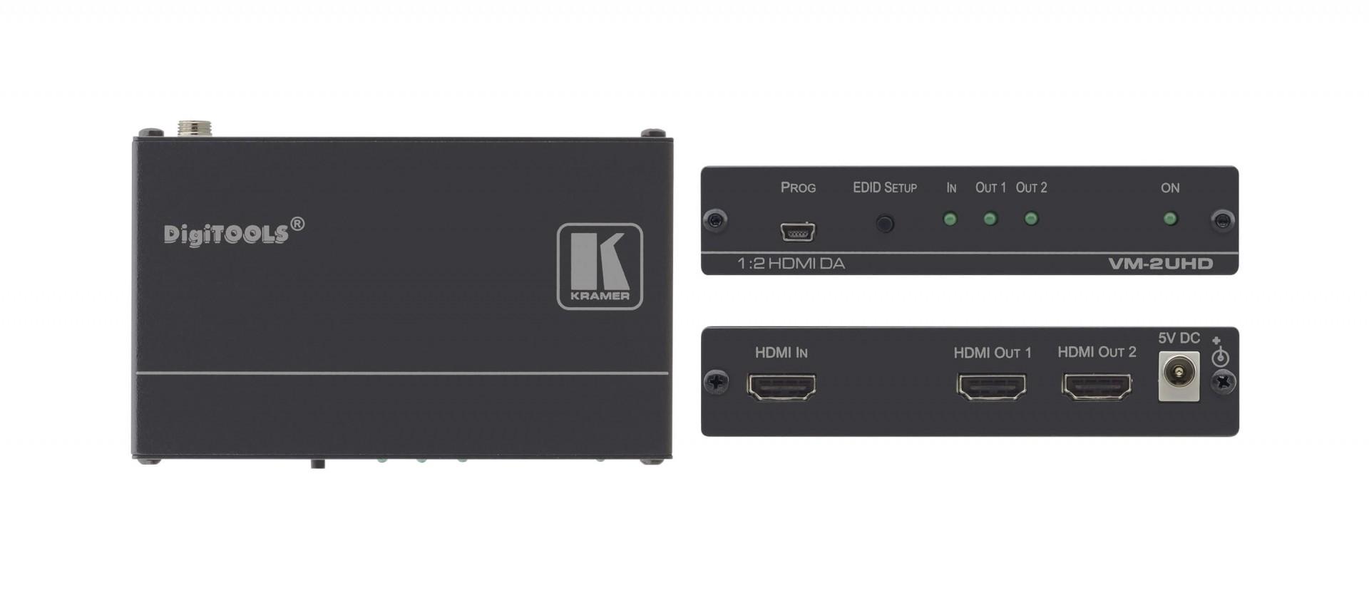 Kramer 1:2 4K60 4:2:0 HDMI distribution amplifier -VM-2UHD