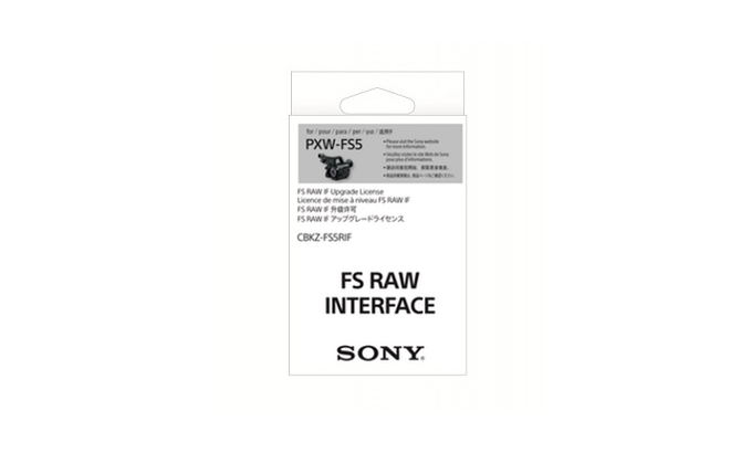 Sony RAW upgrade for the PXW-FS5
