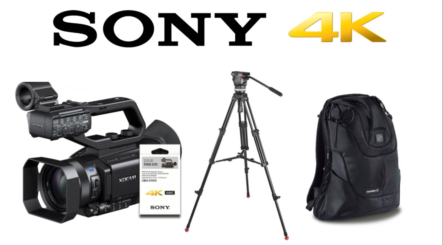 Sony PXW-X70 4K com Tripé Sachtler ACE e Mochila Sachtler