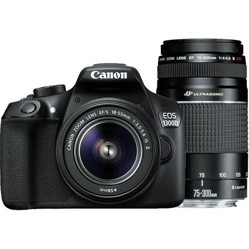 Canon EOS 1300D + EF-S 18-55mm f/3.5-5.6 IS II + EF 75-300mm f/4-5.6 III USM