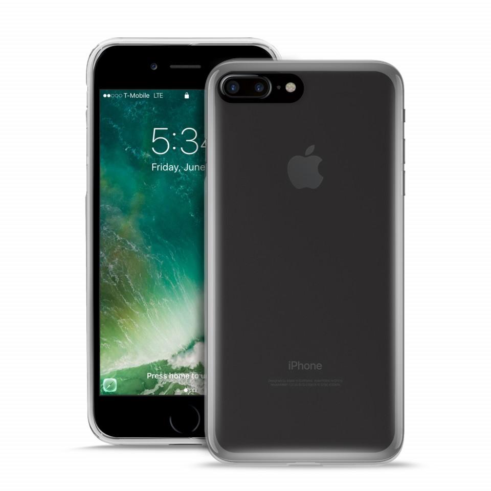 90a2770baddb4 iPhone 7 8 Plus Capa Silicone Transparente Plasma PURO   iCare ...
