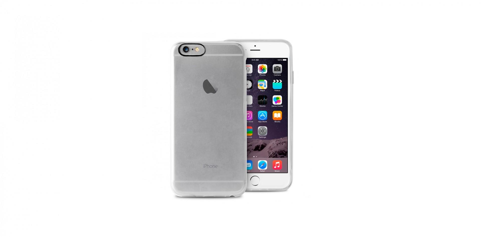 3648c252d51e2 iPhone 6 6S Capa Silicone Transparente Plasma PURO   iCare-market ...