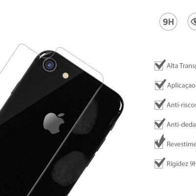 Películas de Protecção Traseira em Vidro Temperado  iPhone 7/8