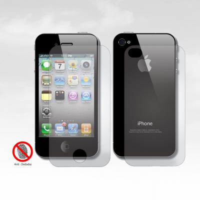 Películas de Protecção Frente e Trás Anti-Dedadas (Efeito Mate) iPhone 4/4S