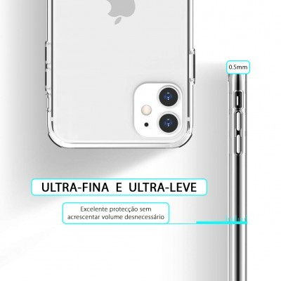 iPhone 11 Capa Ultra-Fina Silicone Transparente
