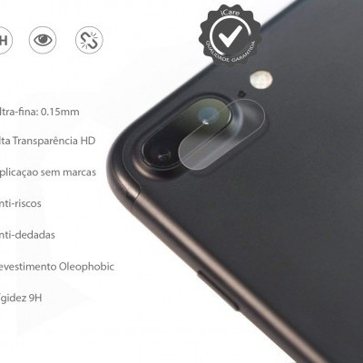 Películas de Protecção de Câmara Traseira (Pack 3) em Vidro Temperado iPhone 7/8 Plus